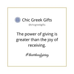 The power of giving is greater than the joy of receiving..   #chicgreekgifts #wedelivergreece #powerofgiving